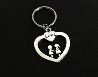 Couples Key Chain. Love Key Chain. Heart Key Chain. Relationship Key Chain. Boyfriend Key Chain. Girlfriend Key Chain.Stocking Stuffer Ideas