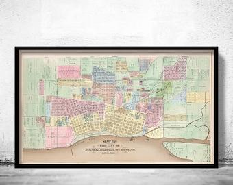 Old map of Burlington Iowa 1873