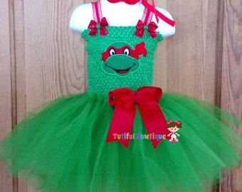 Red dress toddler girl ninja