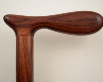 Cane Walking stick made from MORADO Bolivian Rosewood Pau Ferro #2