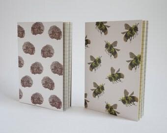 Pack of 2 A6 notebooks - Hedgehog & Bumblebee