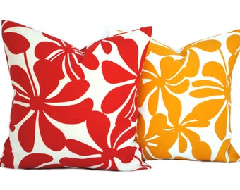 Yellow floral pillow Etsy