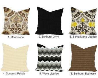 One Santa Maria Outdoor Pillow Cover, Brown Pillow, Decorative Throw Pillow,  Decorative Pillow