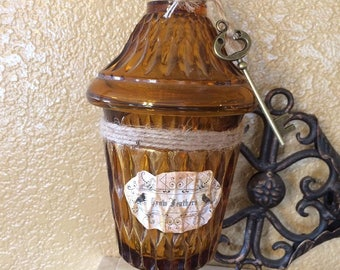 Crow feathers potion bottle decor / apothecary jar