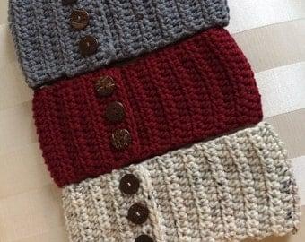 Crochet Ear Warmers, Knit Headband