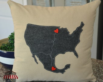 USA/Mexico Custom Pillow Cover! By Home Sweet Michigan - 18 x 18 removable cover - Accent Pillows - USA Pillows - Home Decor