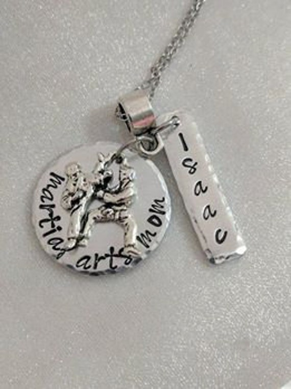 Martial Arts Necklace - Sport Support Jewelry - Karate Necklace - Personalized Necklace - Martial Arts Mom Necklace - Customized Handmade
