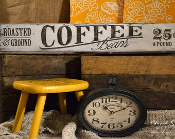 Coffee Kitchen Decor - Farmhouse Kitchen Sign- Coffee Sign - Rustic Decor - Kitchen Sign - Vintage Sign - Coffee Shop