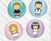 Chapas personalizadas para Comunión: DIBUJO / Custom pinback buttons for Communion PICTURE