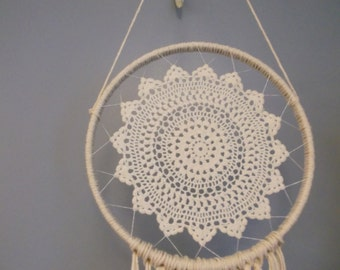 Vintage Doily Dream Catcher