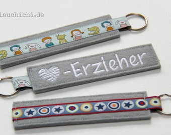 Key chain educator grey