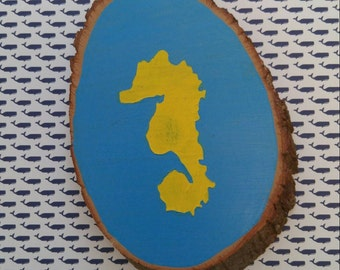 Seahorse Painting On Wood-Tiny Horses