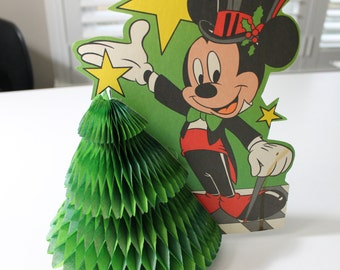 Vintage Christmas Mickey Mouse honeycomb tree