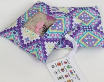 I Spy Bag - Purple Aztec