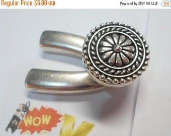Sterling Silver Clasp, Bali Button, Wishbone Half Clasp, Half Bracelet, Half hook