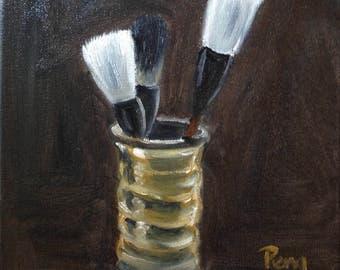 Brushes and Brush holder