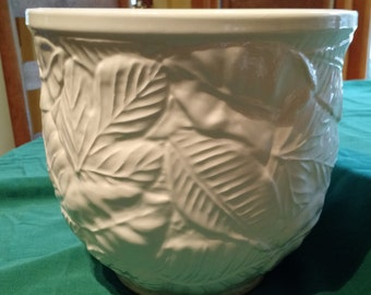 Porcelain Pottery, New England Pottery, White Pottery, White Planter, Indoor Planter