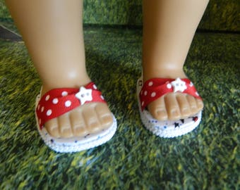 Doll shoes - American Girl fitting doll shoes - made for American Girl doll or similar 18 inch doll