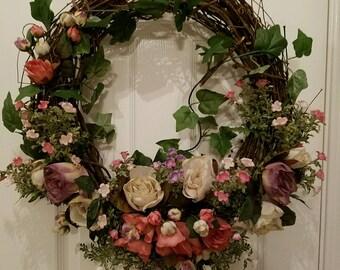 Rose Dried Garden Wreath