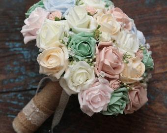 Vintage spring brides bouquet