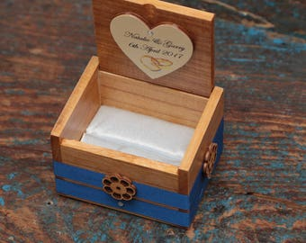 Ring bearer box wedding ring box