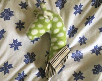 PRICE LOWERED! - Dotty Donny the Dapper Giraffe fauxidermy faux taxidermy fleece art