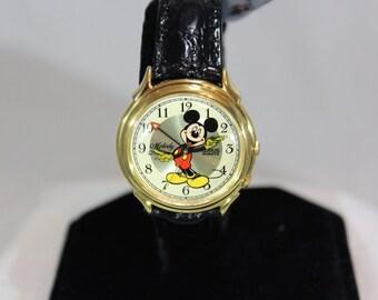 Vintage Lorus Mickey Mouse Melody Alarm Quartz Wrist Watch