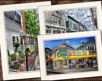 3 Provincetown Photo Note Card Set - 5x7 Provincetown Note Cards - Cape Cod Cards - Provincetown Greeting Card (PR1)