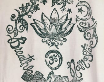 TShirt with yoga design
