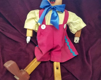Large Wooden Pinocchio Doll