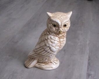 Vintage Brown Homco Owl Figurine