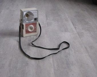 Vintage Kodak Hawkeye Camera - in orange and beige