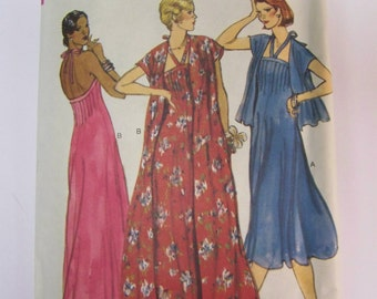RARE Vintage 1970s Vogue 9703 Evening DRESS & Jacket or Coat Pattern sz 12 bust 34 Complete