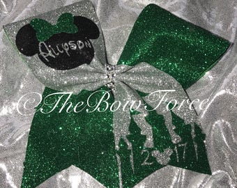 Disney Inspired Bow with Name/Year