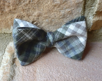 kids bow tie,flannel bow tie,green plaid bow tie for boys,boys bow ties,plaid bowties,flannel fabric