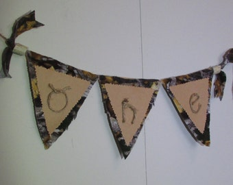 Camo First Birthday Banner, Camo One Banner, Hunting One Banner, Hunting First Birthday Banner, Hunting First Birthday, Little Hunter Party