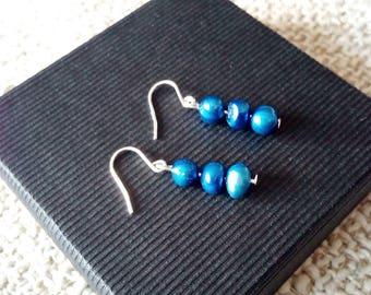Sky Blue Freshwater Pearls Earrings