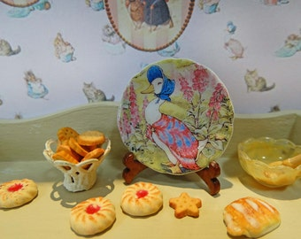 Jemima Duck Miniature Plate for Dollhouse 1:12 scale