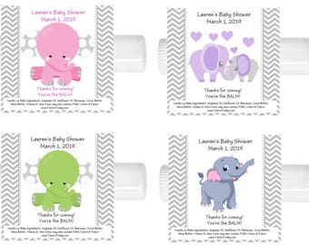 15 Elephant Baby Shower Lip Balm Chap Stick Favors Many Elephants To Choose From