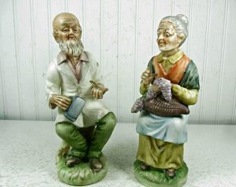 Figurine,Ceramic Man and Woman figurines, Oriental Figurines,napco, collectible, gift, vintage figurine,