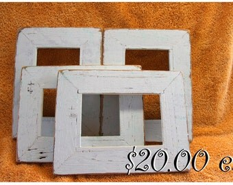 Rustic reclaimed wood Frame   ....... 4 x 6 - 20.00 ea...Beach house frame...Reclaimed wood frames