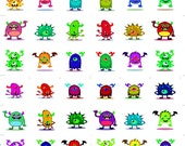 Halloween Monster Match Print and Play Game and Monster Bingo Game (Digital Download)