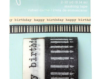 036 - Birthday Wishes - Washi Tape - 2er Set