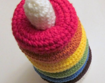 Ring Tower Toy PDF Crochet Pattern INSTANT DOWNLOAD