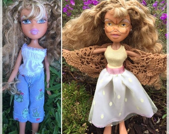 Adeline - rescued doll - upcycled doll - butterfly - masquerade