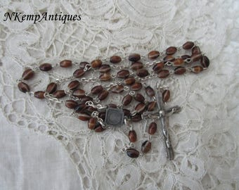 Vintage glass rosary 1950's