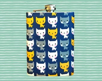 Hair of the Cat Flask // Cat Flask // Hip Flask //Birthday gift // Sassikat Flask // Stainless Steel 8 oz. or 6 oz. Flask