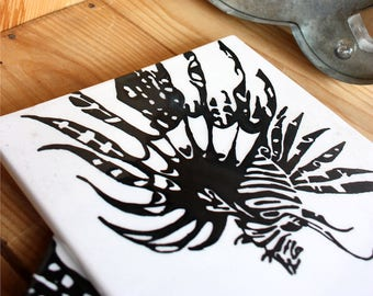 Lionfish Tile - Cheese Plate - Cheese Platter - Tray