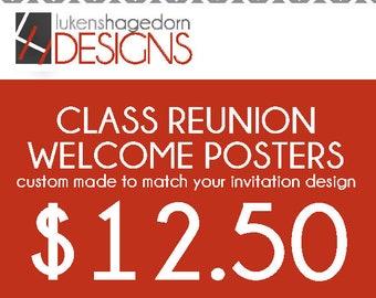 Class Reunion Welcome Poster Add On - Custom digital file