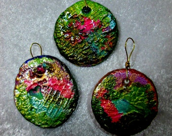 Handmade Clay Pendants - Set of Three Gift Boxes Included - Great all Occasion Gifts
